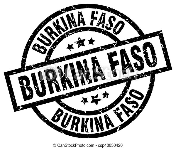 Burkina Faso black round grunge stamp - csp48050420