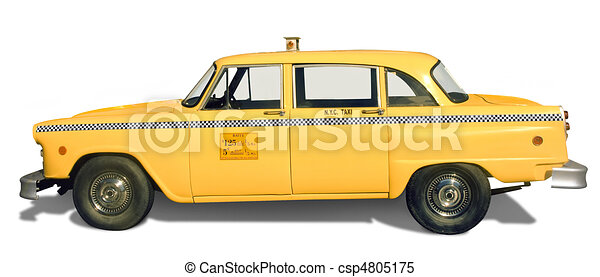 RESERVED FOR ALISON...1970's New York City Cab (6x9 ... |Yellow Taxi Cab Drawing
