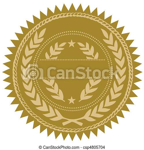 Vector Gold Seal - csp4805704