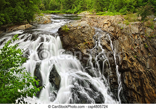 Waterfall in Northern Ontario, Canada - csp4805724