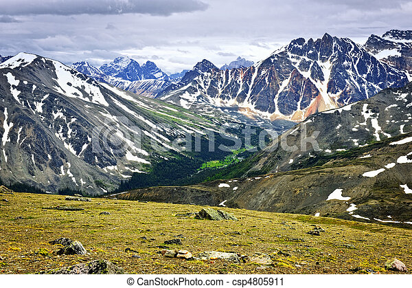 kanada,  Mountains, ostadig, medborgare, Parkera, Jaspis - csp4805911