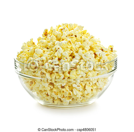 Bowl of popcorn - csp4806051