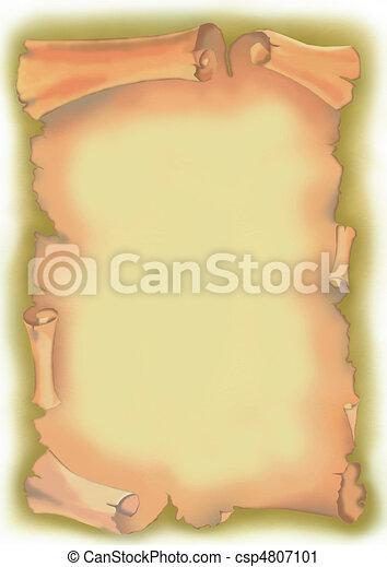 papyrus scroll - csp4807101