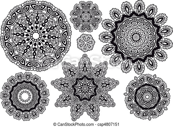 lace pattern, vector - csp4807151