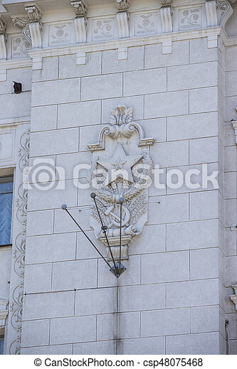 Soviet symbolism in the architecture of stucco mosaic bas-relief