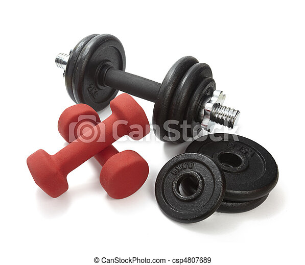 weights lifting body building - csp4807689