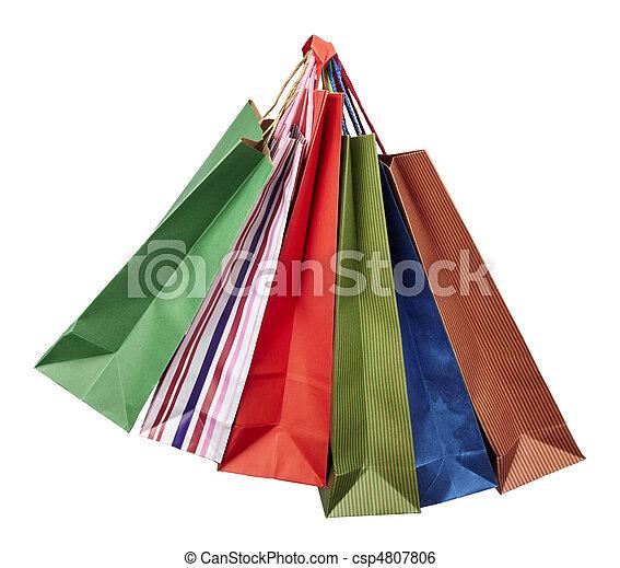 Tasche, Verbraucherbewegung, einzelhandel, shoppen - csp4807806