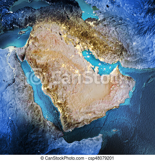 Middle East - csp48079201