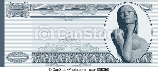 Blank banknote - csp4808350