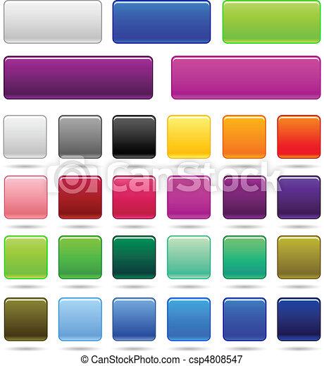 set of web square button - csp4808547