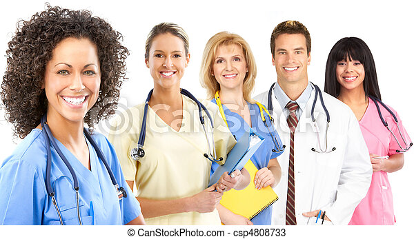 Smiling medical nurse - csp4808733