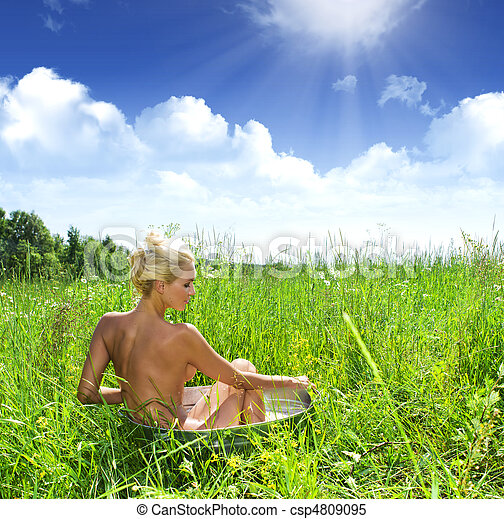Bathing on the nature - csp4809095