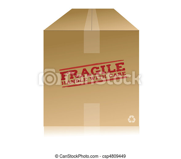 Handle With Care Box - csp4809449