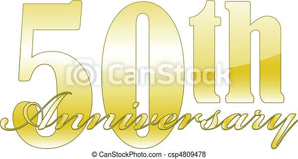 50th Anniversary - csp4809478