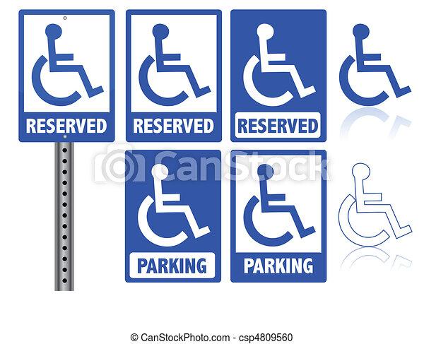 Handicap parking sign - csp4809560
