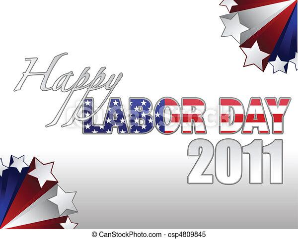 Happy Labor Day - csp4809845