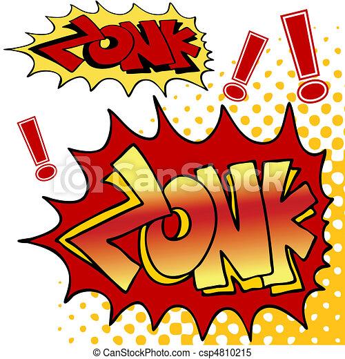 Zonk Comic Book Text - csp4810215