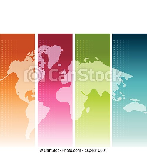 Colorful World Map - csp4810601