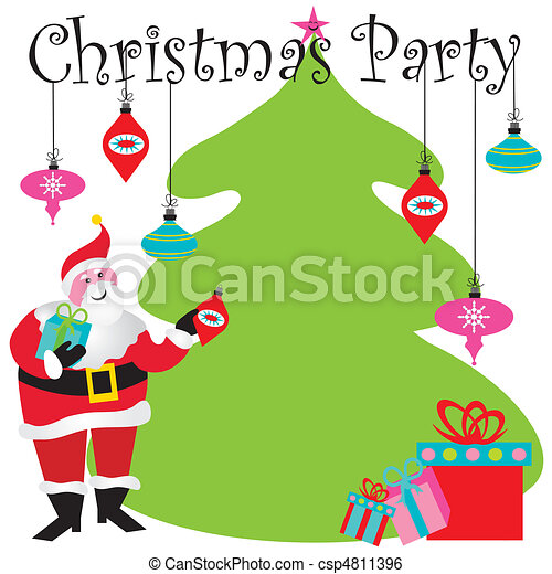 Vector - Christmas Party Invitation - stock illustration, royalty free ...