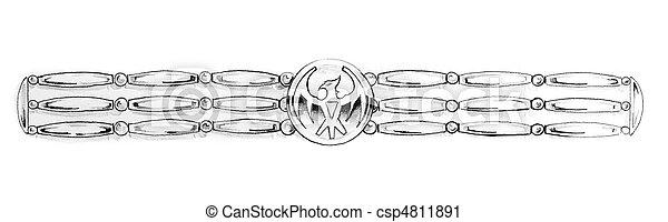 foto de Photographies de tatouage croquis indien bracelet art