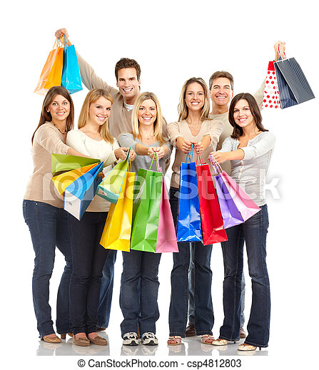 Shopping people - csp4812803