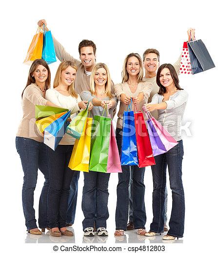 買い物, 人々 - csp4812803