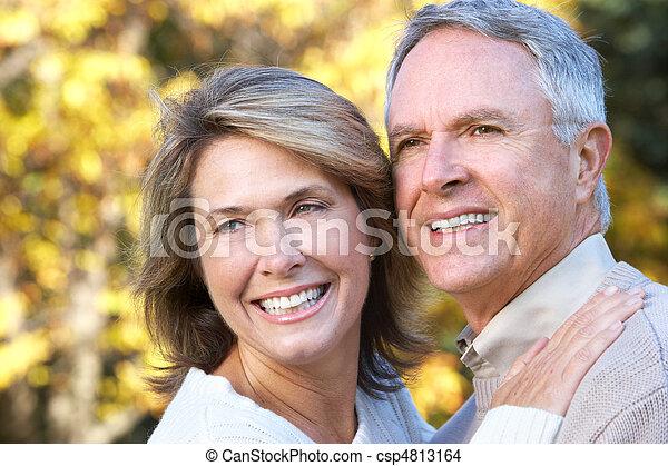 Happy elderly couple - csp4813164