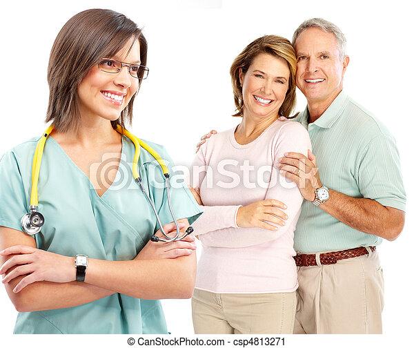 doctor and elderly couple - csp4813271