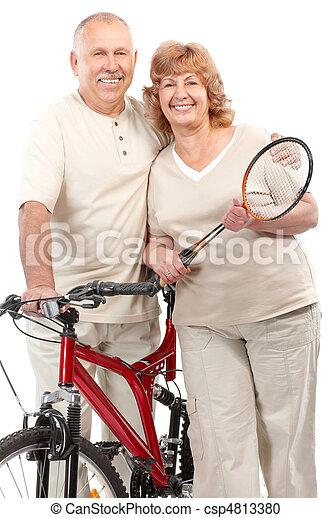Active elderly couple - csp4813380
