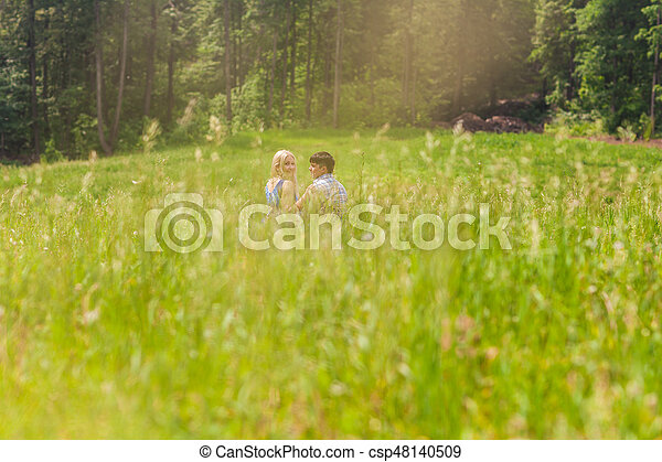 A young sweet couple in love - csp48140509