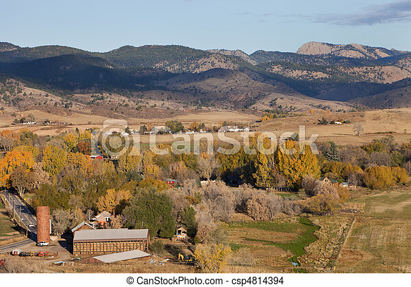 Colorado mountain village and farmland - csp4814394