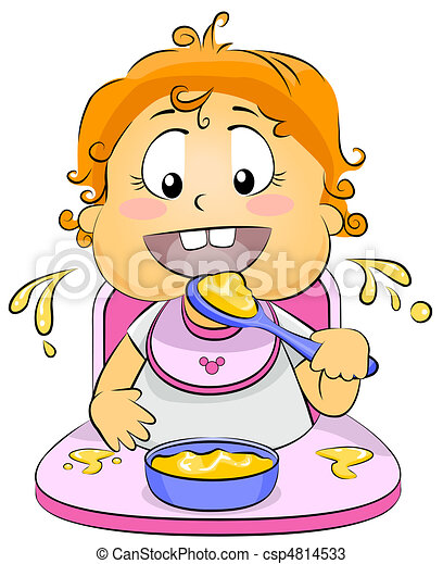 Baby Eating - csp4814533