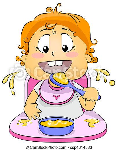 Baby Eating - csp4814533
