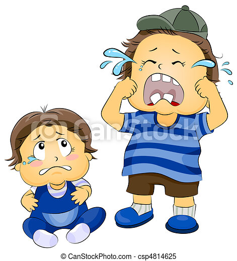 Crying Children - csp4814625