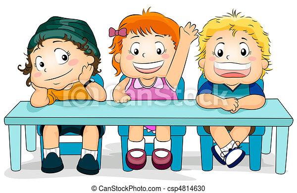 Stock de ilustration de ni os clase illustration - Ninos en clase dibujo ...