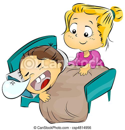 stock illustration von mutter setzen sie kind zu bett abbildung von a csp4814956. Black Bedroom Furniture Sets. Home Design Ideas