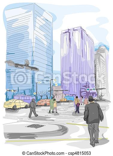 Urban Sketch - csp4815053