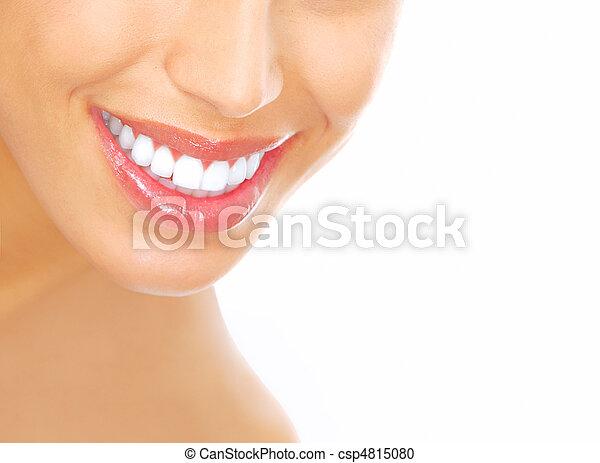 婦女, 牙齒 - csp4815080