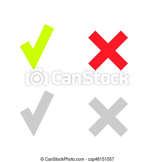 doosje,  Set, iconen, Of,  Mark, groene, lijn, controleren - csp48151557