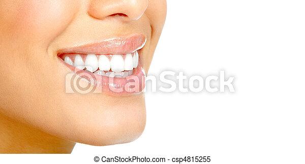 婦女, 牙齒 - csp4815255