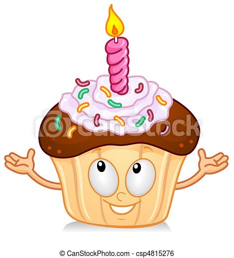 Cupcake With Candle Gesture - csp4815276