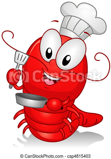 Drawings of Lobster Chef - Illustration of a Lobster ...