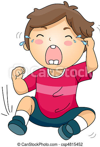 Clip art von weinen kind abbildung von a weinen for Boden cartoon