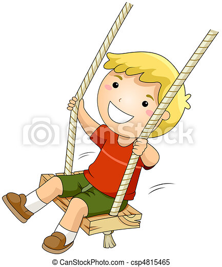 Kid on a Swing - csp4815465