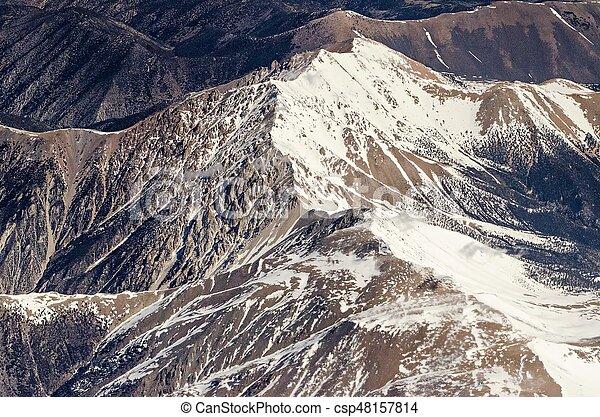 flying over colorado rocky mountains - csp48157814