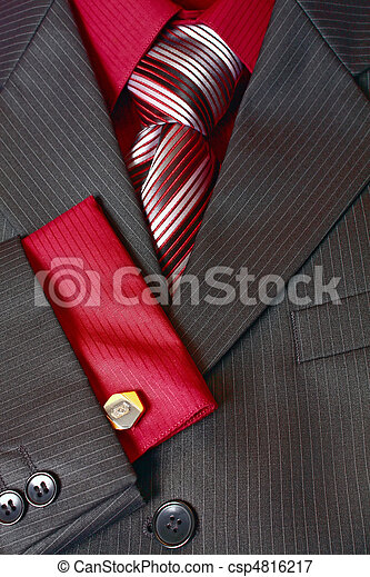 fragment man suit shirt and tie - csp4816217