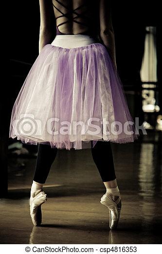 ballet dancer on her toes - csp4816353