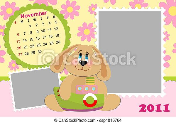 Baby's monthly calendar for november 2011's - csp4816764