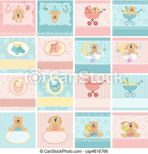 Collection of baby's postcards - csp4816766