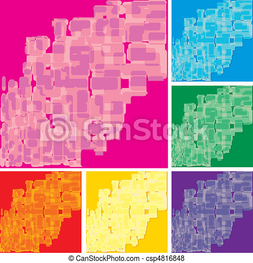 Set of abstract colorful spotted backgrounds, part 17, vector illustration - csp4816848